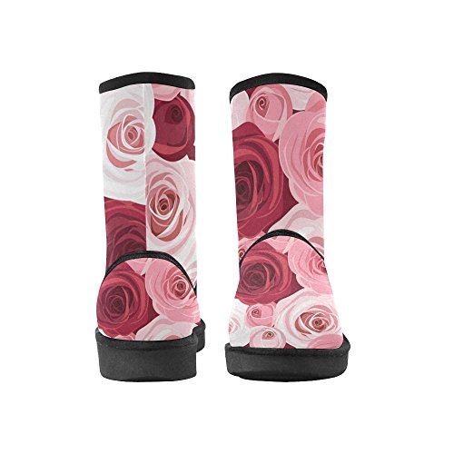 Womens Size Print On Colorful Snow 5 InterestPrint Boots 12 Geometry Pattern Classic 5 Color1 Bike Flowers Stripe Rose ORPq7twx