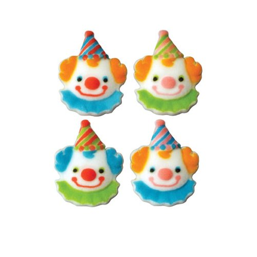 lucks-dec-ons-decorations-molded-sugar-cup-cake-topper-clown-assortment-15-inch-140-count
