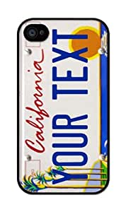 iZERCASE California License Plate Personalized Design Beach RUBBER iphone 4 case - Fits iphone 4, iphone 4S T-Mobile, AT&T, Sprint, Verizon and International (Black)