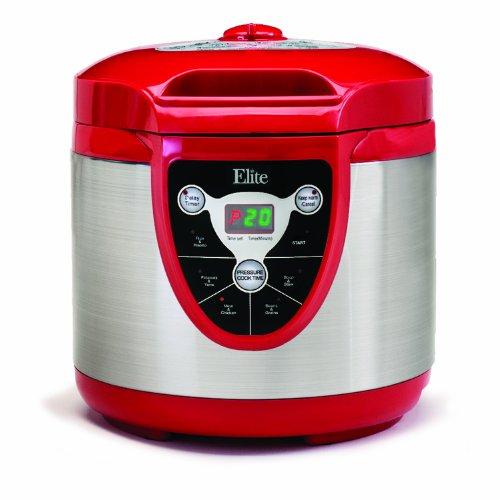 Elite Platinum EPC-607R Maxi-Matic 6 Quart Electric Pressure Cooker, Red (Stainless Steel) by Elite Platinum