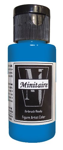 (Badger Air-Brush Company 2-Ounce Bottle Miniature Airbrush Ready Water Based Acrylic Paint, Lagoon Blue)