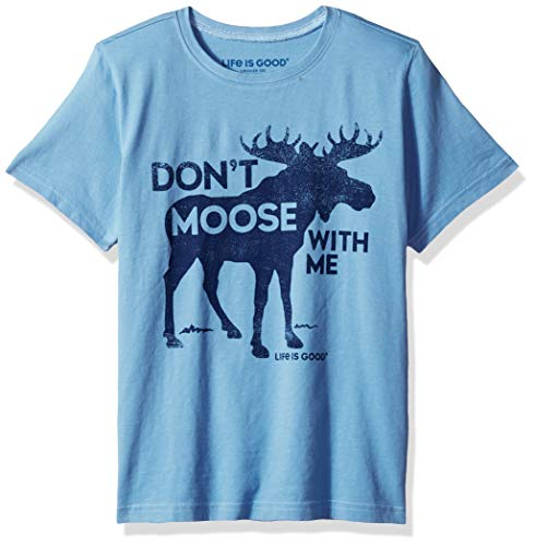 Life is Good Boys Moose With Me Crusher Tee, Moose,Carolina Blue, X-Large ()