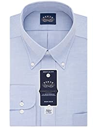 Men's Non Iron Stretch Collar Regular Fit Solid Dress Shirt