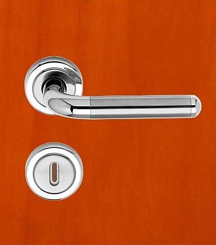 Amazon.com: Isabell – Picaporte de puerta (acero inoxidable ...