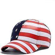 CGXBZA Men's Hat Wild Europe and The United States Flag Hip Hop Baseball Cap Summer Visor Cap Fe
