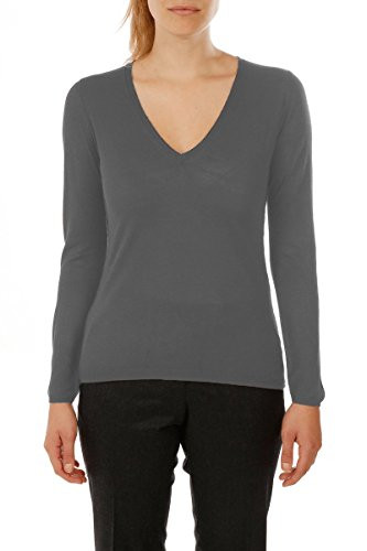 Maille col Cachemire Pull V Field Bruce Gris en Femme Bambou xq7Y18Uw