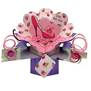 """"""" Just for You – Shoe"""" Mother's Day/Open Female Pop Up Card – POP079"""