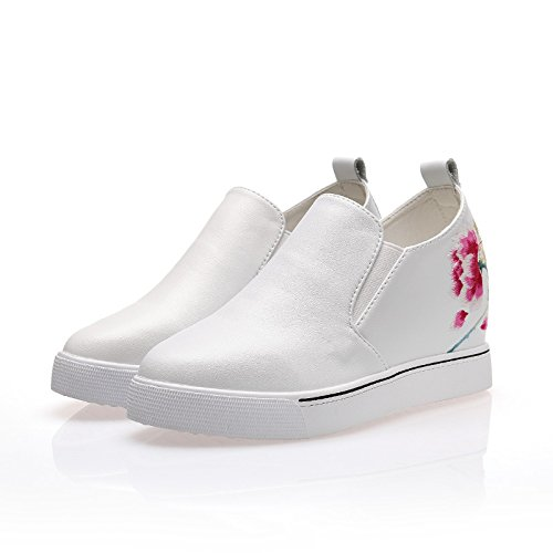 fall comfortable eight shoes embroidered The GTVERNH with thick Thirty slope shoes shoes waterproof platform wxwUXZq4
