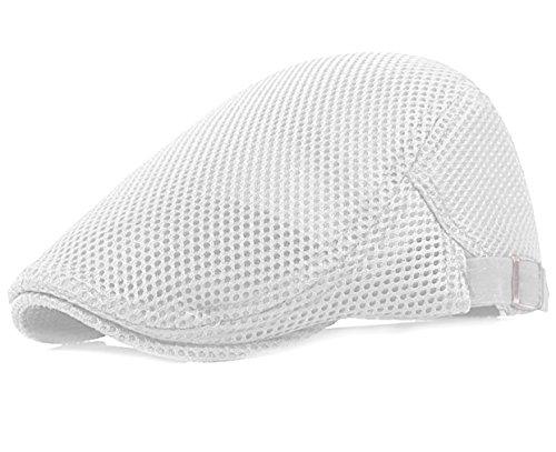 Men Breathable mesh Summer Hat Newsboy Beret Ivy Cap Cabbie Flat ()