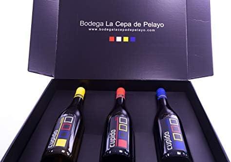 Estuche 3 botellas Cupido Vino tinto, blanco y rosado 75cl- Añada 2017 D.O.Manchuela: Amazon.es: Alimentación y bebidas
