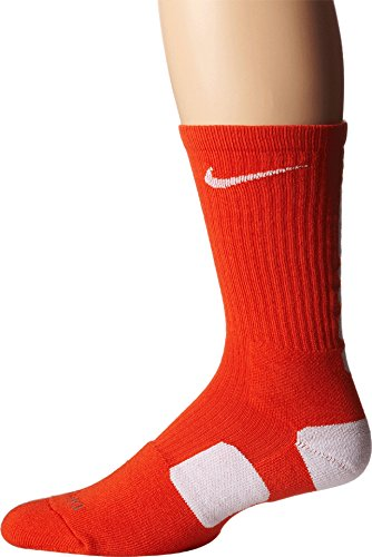 Nike Mens Basketball Elite Crew Socks (Medium, Team Orange/White)