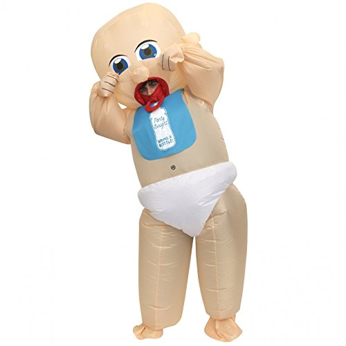 Morph Giant Inflatable Baby Costume Adults Hilarious Blow Up Suit Funny Fancy -