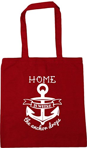 Home Bag HippoWarehouse is drops Tote litres 10 Shopping the x38cm Gym 42cm where Classic Beach anchor Red Hxxpw1nf