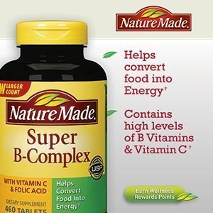 Nature Made Super B-Complex with Vitamin C and Folic Acid -