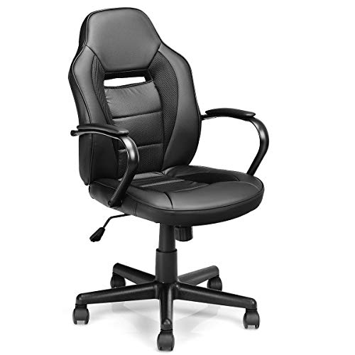 Mid-Back Office Chair Racing Chair Swivel Desk Task Computer Home Gaming Chair Caraya