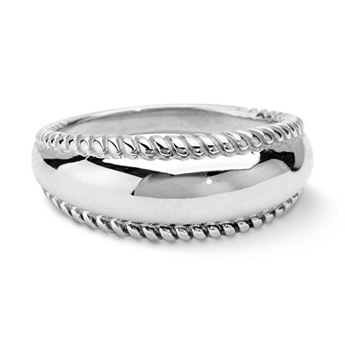 Sterling Silver Rope Design Ring - 4