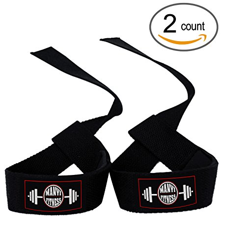 Lifting Straps For Bodybuilding, Calisthenics, Cotton Lifting Straps Grip With Wrist Wrap, Extremely Strong Weight Lifting Straps , Lift Heavier, Lift Safer, Pair (2pcs), By Manyi Fitness