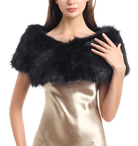 SoulYoung Faux Fur Collar Women