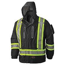 Pioneer V1130270-L Premium 3-in-1 Waterproof Safety Jacket, Black L
