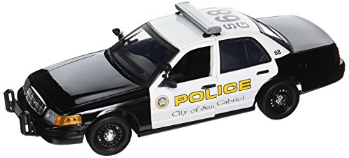 Crown Police Victoria (Motormax 1:18 2001 Ford Crown Victoria San Gabriel Police Interceptor Vehicle)
