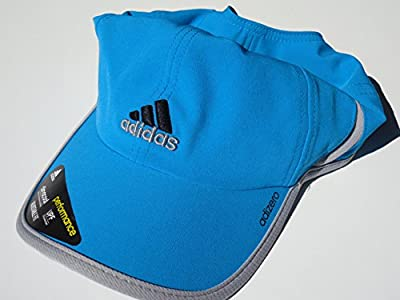 adidas Adizero li Men's UPF Cap, Solar Blue/Grey