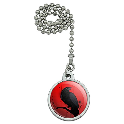 GRAPHICS & MORE Crow on Branch Ceiling Fan and Light Pull Chain