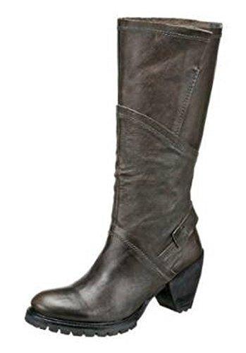Stiefel von Too by Virus aus Leder in Farbe Anthrazit Anthrazit