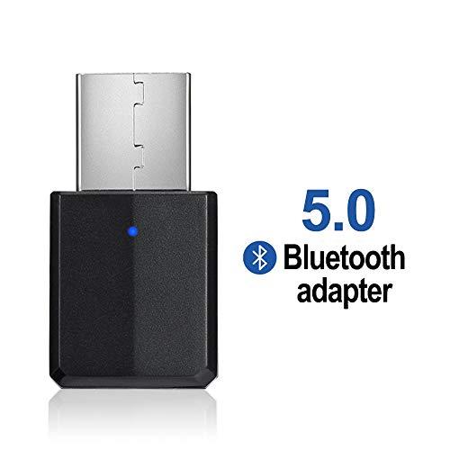 🥇 FAGORY Bluetooth para pc – Mini Receptor transmisor Bluetooth con Adaptador USB de 3