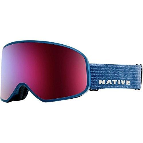 Native Eyewear Cobalt Tenmile Ski-Goggles, Snow Turned Red/Rose/Blue