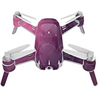 Skin For Yuneec Breeze 4K Drone – Purple Hearts   MightySkins Protective, Durable, and Unique Vinyl Decal wrap cover   Easy To Apply, Remove, and Change Styles   Made in the USA