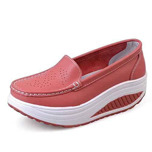 Lightweight Women's Shoes Fitness Shoes Walking Out Platform Red on Sneaker Slip PRETTYHOMEL Work ICqdd