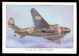 1935 Wings Cigarettes Series B (Non-Sports) card#38 RAF bomber