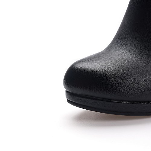 SXC02124 Womens Microfiber Pumps Fashion Dress Black Resistant AdeeSu Slip Shoes n8UqXx8d