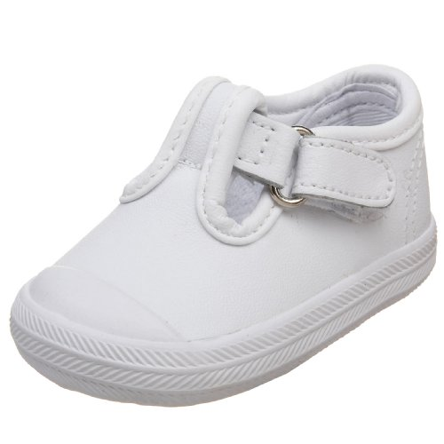 3 Leather Sneaker - Keds Champion Toe Cap T-Strap Sneaker (Infant/Toddler), White Leather, 3 M US Infant