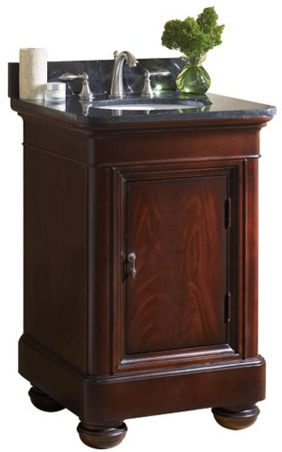 Kaco international 893-2400TB Mount Vernon 24-Inch Vanity with a Merlot Sherwin Williams Finish including a Tan Brown Granite Top
