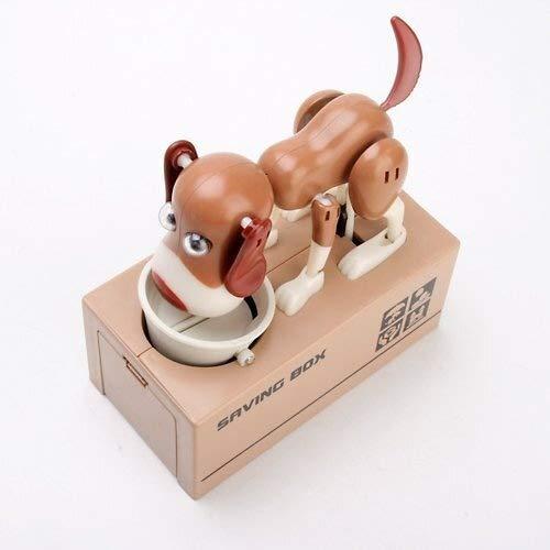 Yangyme Caja de Dinero My Dog Piggy Bank Caja rob/ótica for Ahorrar Dinero Comiendo Monedas