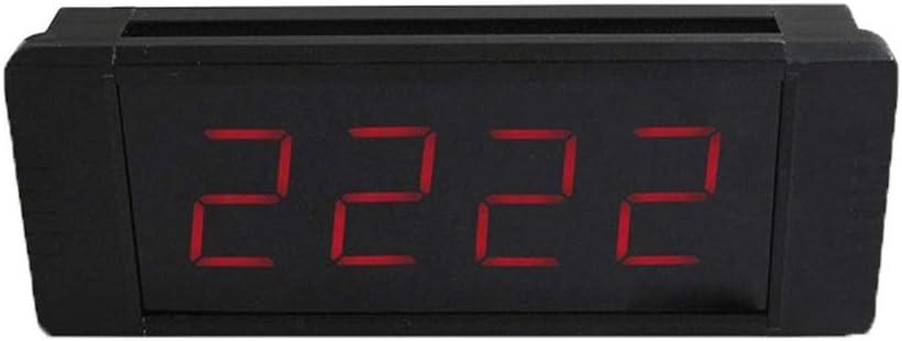 タイマー ワイヤレスリモートインターバルウォールタイマージムタイマーでプログラム可能なプレミアムLED 多機能 (色 : ブラック, サイズ : 25X10X4CM) ブラック 25X10X4CM