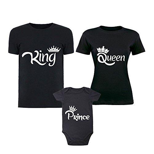 T Body Marca Altra Magliette Nero Per Famiglia Di Reale Tris Tutta Con shirt Bodino La Corona Abbigliamento Bimbi txCqdqwRHF