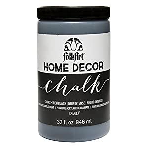 FolkArt Home Decor Chalk Furniture & Craft Paint in Assorted Colors, 32 oz, 34882 Rich Black