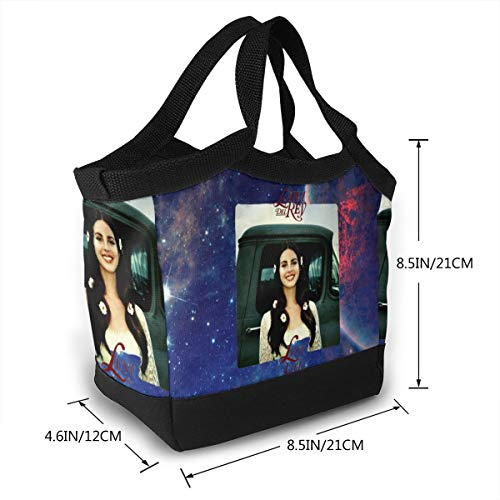 SuraphonSuphunthuchatz Thick Reusable Insulated Thermal Lana Del Rey Lust for Life Lunch Bag for Adults Kids Work Outdoor Travel Picnic Gift]()