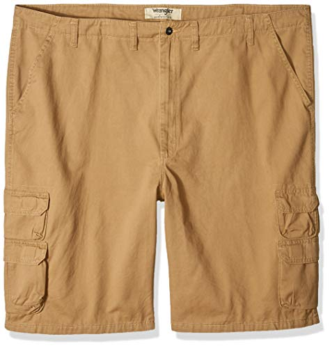 (Wrangler Authentics Men's Big and Tall Authentics Bennard Twill Cargo Short, Acorn, 54)