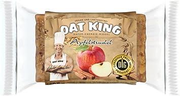 Oat King Energy Bar Barrita de avena, carbohidratos de cadena larga, vegetarianos, sin lactosa, proteína vegana, 10 x 95 g, frutas rojas y yogur ...