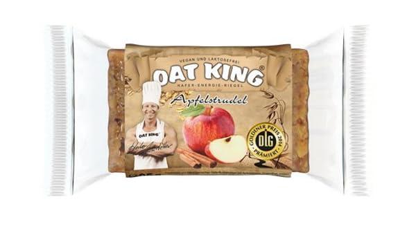 Oat King Energy Bar Avena cerrojo langkettige hidratos de carbono vegetariano Risch lactosa libre Vegan proteína 10 x 95 g (manzana espirales espirales ...