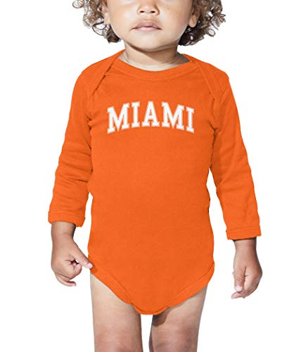 - HAASE UNLIMITED Miami - State Proud Strong Pride Long Sleeve Bodysuit (Orange, 6 Months)