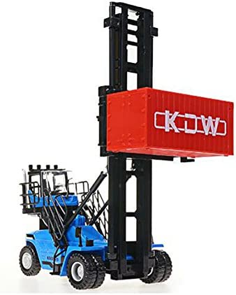 LZ おもちゃ スタッカー1:50合金工学車両コンテナ空ボックス玩具杭打機 子供のおもちゃ (色 : 青)