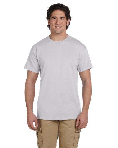 Hanes Adult ComfortBlend Eco Smart Crewneck Hem T-Shirt, Light Steel, X-Large