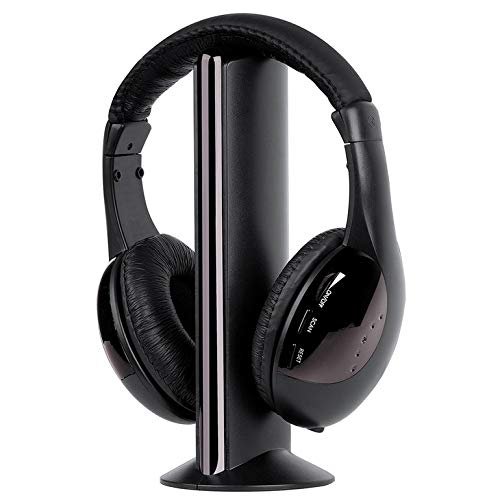 Multi-Occasion Wireless Headset for TV Computer 3.5mm High-Fidelity Sound Headset with FM Radio Voice Call Function MH2001 ()
