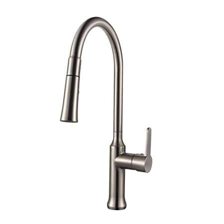 Best Commercial Single Lever Swivel Spout Stainless Steel Brushed