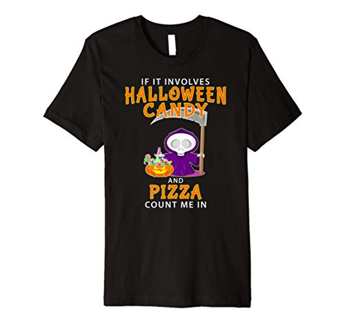 Halloween Pizza Lover T-shirt Funny Foodie Costume