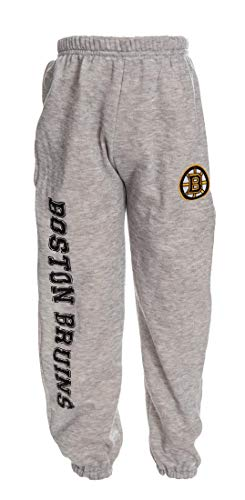 Calhoun NHL Youth Official Team Childrens Fleece Sweatpants (X-Large, Boston Bruins)